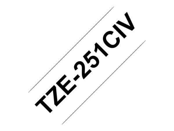 Brother Papier, Folien, Etiketten TZE251CIV 1