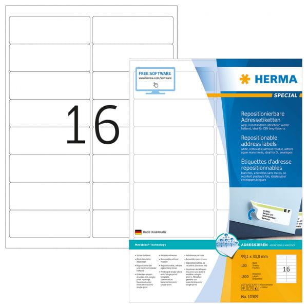 HERMA Papier, Folien, Etiketten 10309 4
