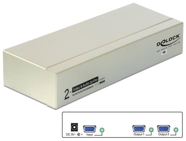 Delock Netzwerk Converter und KVM 87654 1